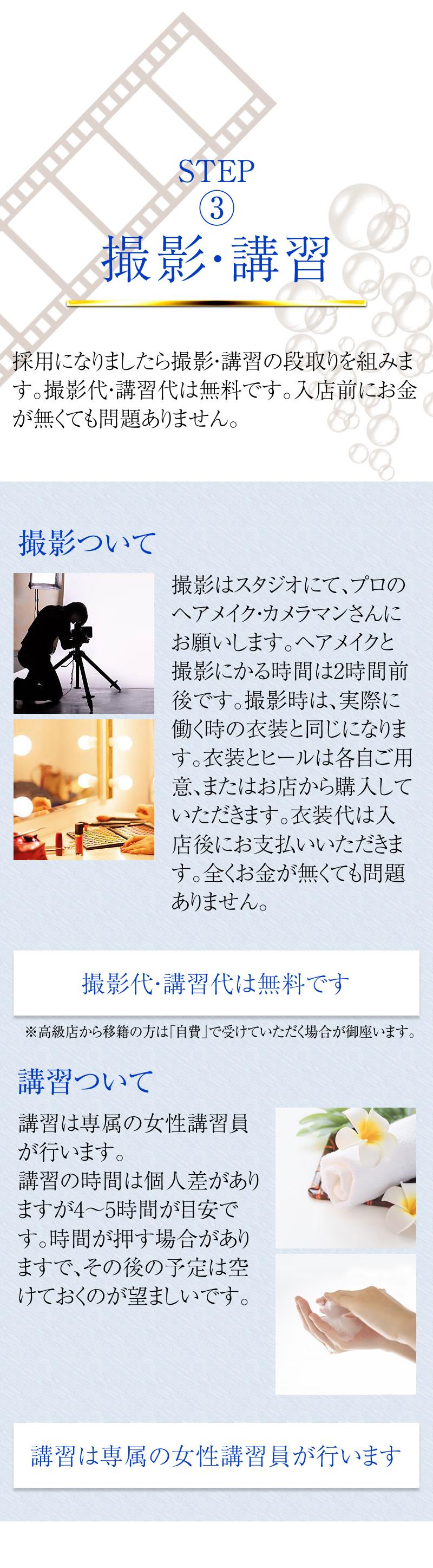 ステップ3 撮影・講習